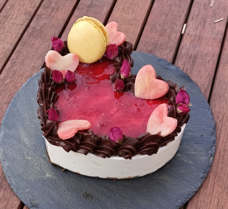 Cheesecake chocolat framboise